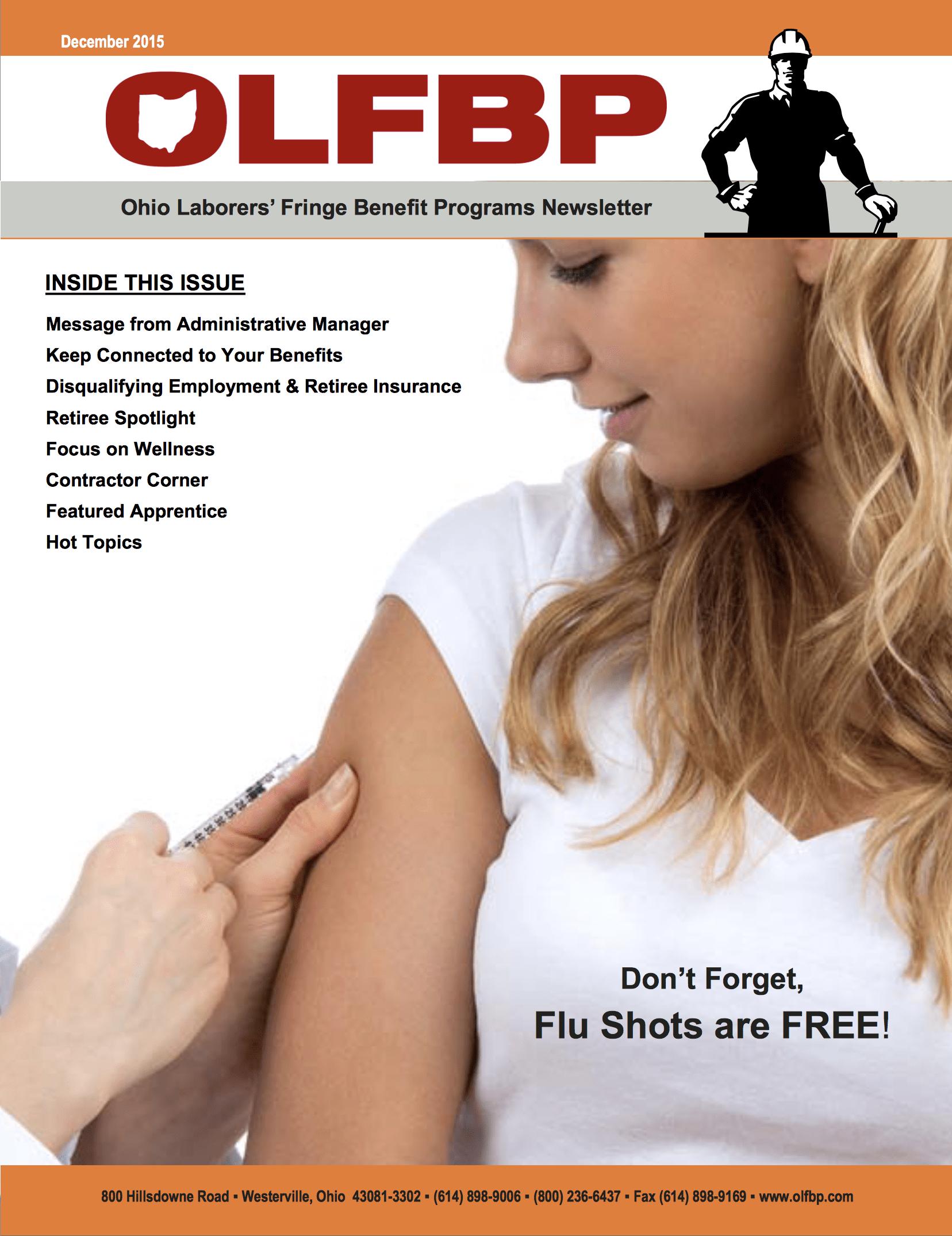 December 2015 Newsletter cover