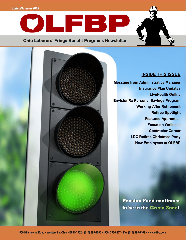 Spring/Summer 2015 Newsletter cover