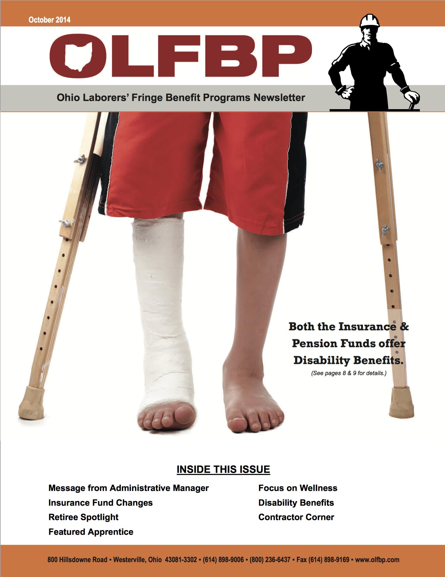 October 2014 Newsletter cover