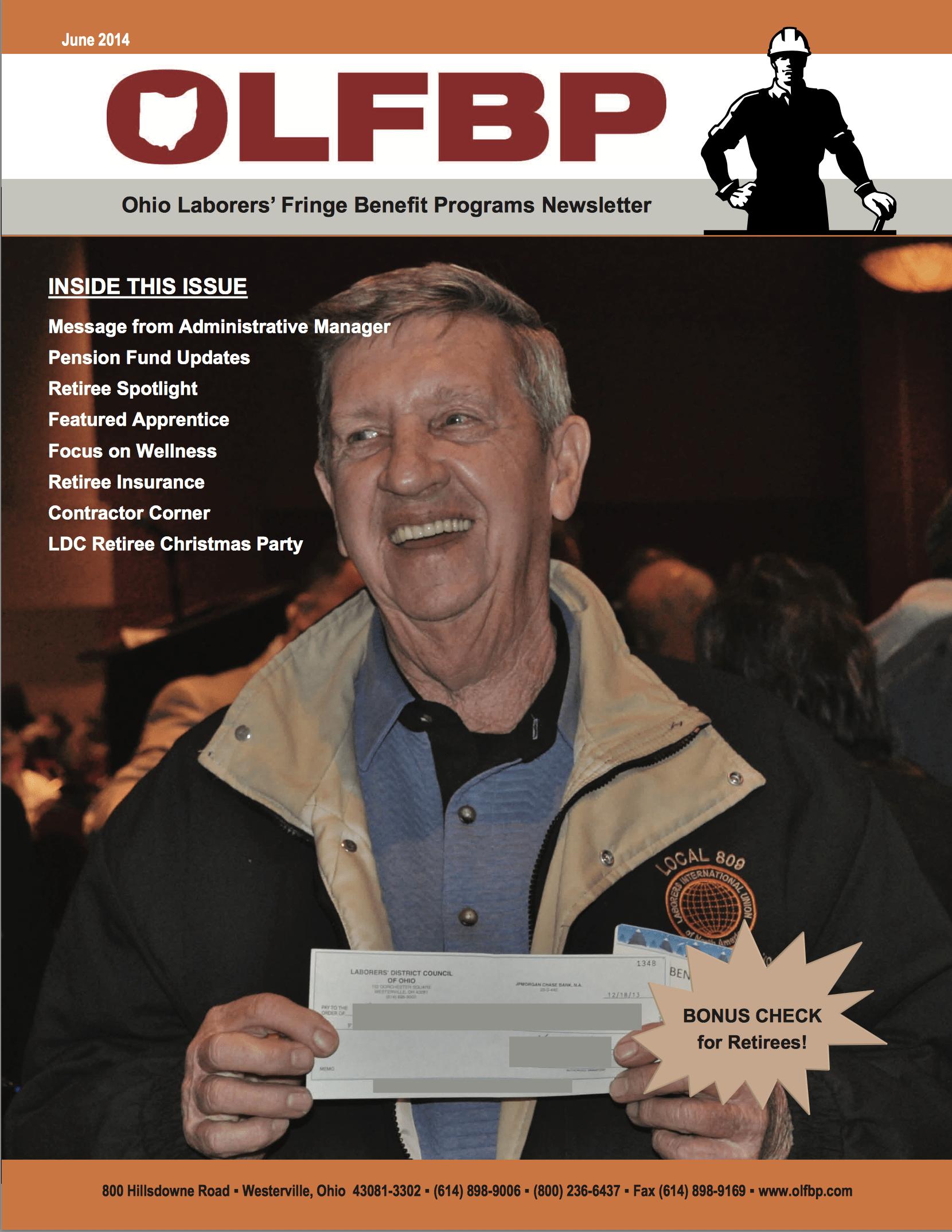 June 2014 Newsletter cover