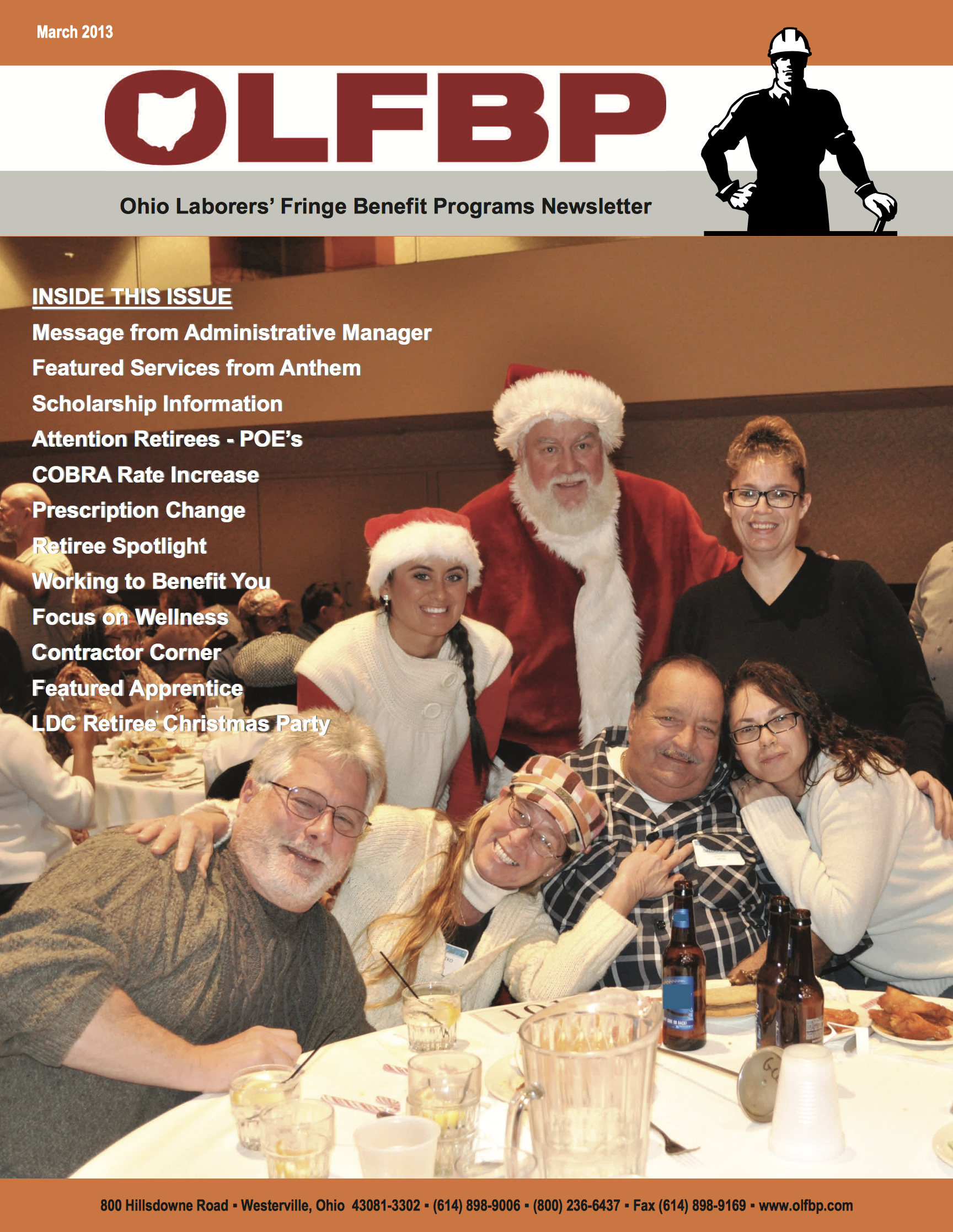 March 2013 Newsletter cover