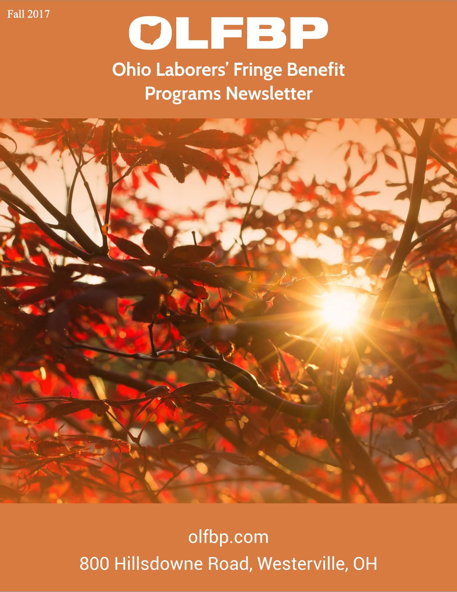 Fall 2017 newsletter cover